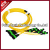 12 cables ópticos unimodales de fibra de las memorias MPO