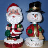 Santa Clause Snowman Resin Bobble Head