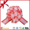 Roter gedruckter Geschenk-Farbband-Zug-Bogen für Weihnachtsgeschenk-Paket