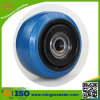 100mm Elastic Blue Rubber Wheel