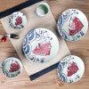 Jeu de Sushi Japanese-Style Hand-Painted Retro Dîner