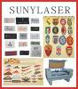 CCD gestickter Firmenzeichen-Laser-Scherblock 1280