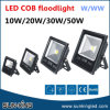Luz de inundación negra de la MAZORCA del proyector LED del reflector del paisaje del aluminio 3000k 5000k 6000k del shell 10W 20W 30W 50W