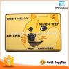 Rectángulo perro amarillo de PVC de coser ropa Gancho y bucle parche