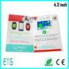 4.3 좋은 판매를 위한 인치 TFT HD LCD 스크린 광고 카드