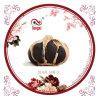 ein biologisches Lebensmittel des schwarzen Knoblauchs