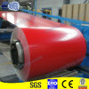 屋根シートのための赤いカラー上塗を施してある鋼板