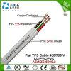 Pvc van uitstekende kwaliteit Cable van Flat Copper Conductor TPS (450/750V)