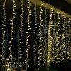IP67 Decoración Navideña exterior luces Cortina de cables de goma