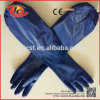 16  голубых пригодных для носки перчаток PVC двойных окунутых