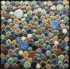 Mosaico de piedra libre de cerámica con colores