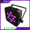 12X12W無線同価は電池が付いているフラットバーLEDライトできる