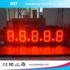 Im Freien Gaspreis-Zeichen-Bildschirmanzeige rotes Licht-Digital-LED