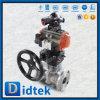 Robinet à tournant sphérique CF8 pneumatique de l'acier inoxydable 304 de Didtek