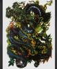 Стикеры Tattoo модного дракона водоустойчивые временно