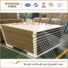 50mm de lana de roca incombustible Panel Sandwich con aislamiento de poliuretano Edge para techo