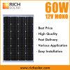 60W Mono панель солнечных батарей, солнечнаяо энергия прямой связи с розничной торговлей фабрики Monocrystalline