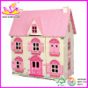 Doll di legno House, con 4 Set Furniture Toy (W08G058)