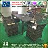 كرسي ذو ذراعين يثبت [ويكر] يوسع [رتّن] حد أثاث لازم مجموعة مع طاولة مربّعة