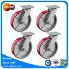 8  Ladung-Laufkatze-Fußrolle Hochleistungs-PU-Stahlrad-Installationssatz