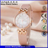 Montre-bracelet de dames de cadeau de quartz de courroie en cuir de mode d'ODM (Wy-121A)