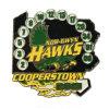Cooperstown Hawks la divisa suave del esmalte de los números de los deportes de personas