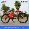 Bici eléctrica maravillosamente diseñada de la ciudad del color rojo para conmutar