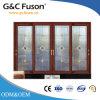 Цвет древесины двойной стекла алюминиевые раздвижные двери