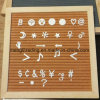 quadratischer Holz-Rahmen-Zeichen-Vorstand der Eichen-10inch