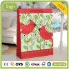 Bolsa de papel revestida del regalo del pequeño del pájaro arte del verde
