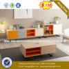 Armoire en bois de verre aluminium moderne/ bureau de poste de travail Partition (HX-8N0800)
