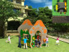 Системная плата Kaiqi малых PE детей игровая площадка для установки вне помещений набор слайдов (KQ50086B)