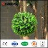 庭の緑のキヅタの塀の球のBoxwoodの人工的な両掛け