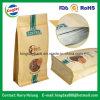 Bolso de café con el papel de Kraft y la parte inferior plana y con el Ziplock
