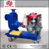 O motor diesel da bomba de água de irrigação agrícola
