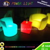 RGB Colorful PE Materiale LED illuminato Sofa