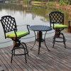 El diseño popular Jardín Comedor de aluminio fundido Bistro con la silla giratoria