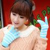 Леди мода полосой трикотажные зимой сенсорного экрана Magic перчатки (YKY5441)