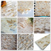 Hot Sunny Beige Golden Marble Culture Bardage en pierre