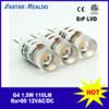 Bulbo do diodo emissor de luz do diodo emissor de luz Bipin do projeto 12VDC/AC 1.5W 110lm G4 da patente