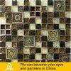 Mosaico de cerámica y de cristal de Brown rústico con diseño del arte de la resina