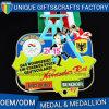 Médaille en alliage de zinc en métal de récompense de sports de forme de logo de modèle de mode