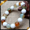 Nuovo Product Wholesale White Natural Color Stone Bracelets per Women (LW087)