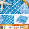 Mosaico de cristal del cuarto de baño azul del color de la impresión de la mano (G423019)