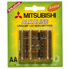 Lr6 AA Мицубиси Dry Alkaline Battery 1.5V
