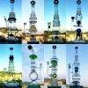 Nuevo Borosilicate de Handblown de la fábrica de Hebei del diseño 22 pulgadas - inventario de cristal del cenicero del arte del tubo de la alta calidad del percolador del tazón de fuente alto recto del color para el tubo de agua de cristal