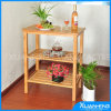 Storage를 위한 3개의 층 Bamboo Display Shelf