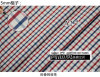 Vermelho/tela tingida fio da camisa do Chequer verificações da marinha