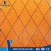 6.5mm 노란 호박색 Nashiji에 의하여 타전되는 장식무늬가 든 유리 제품