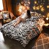 La cubierta del Duvet del paño grueso y suave de princesa Coral Fleece Flannel Micro fija lecho